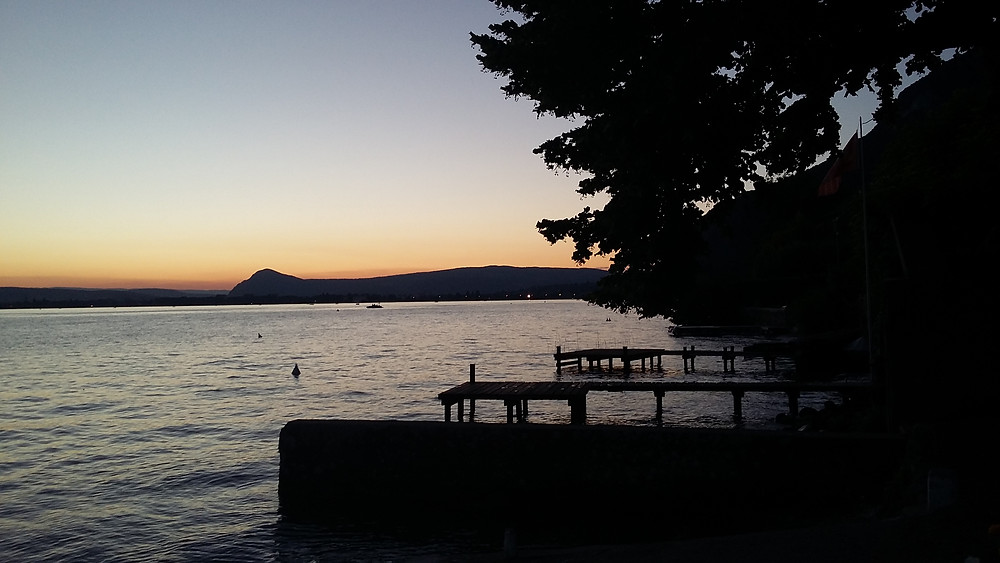 photo sunset annecy