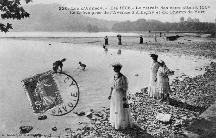Postcard Albigny beach 1906