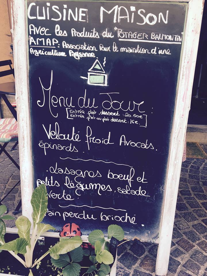 Original menu Annecy Old Town