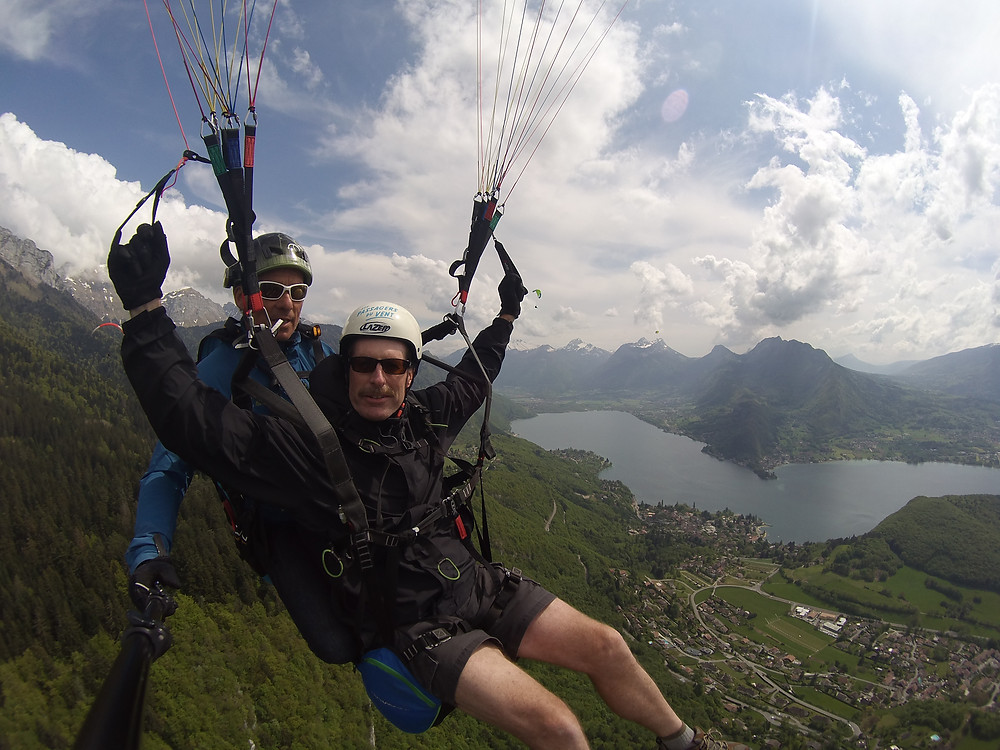 Paragliding photo in Annecy