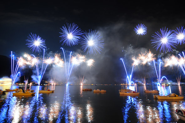 Fireworks on Lake Annecy