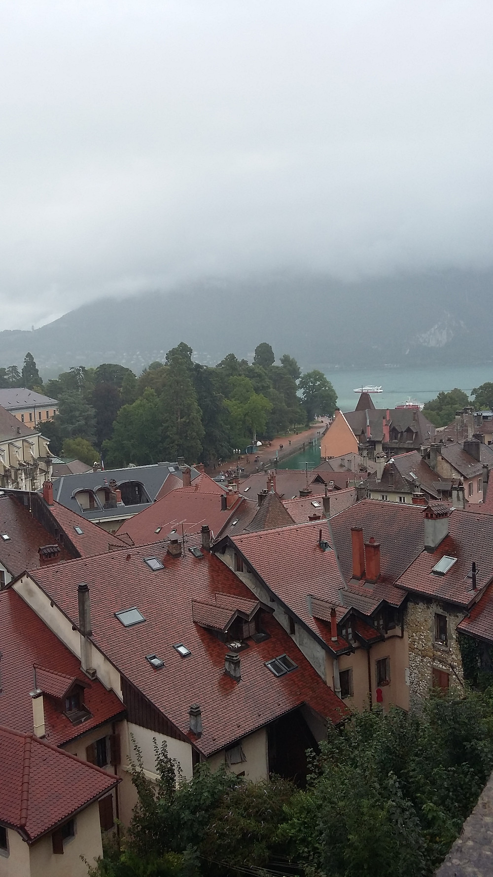 view from Annecy Castle