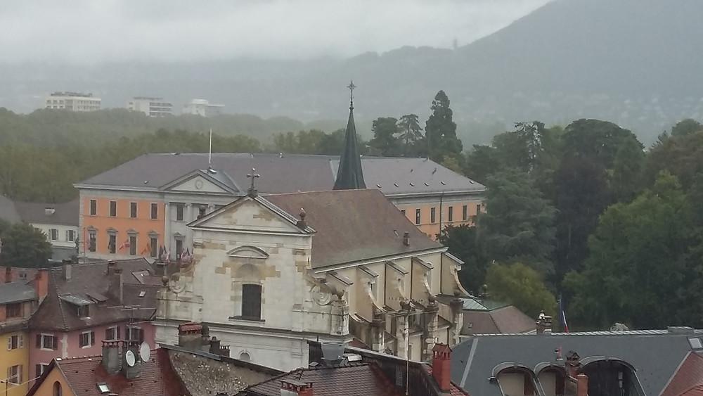 Italian Church and City Hall Annecy