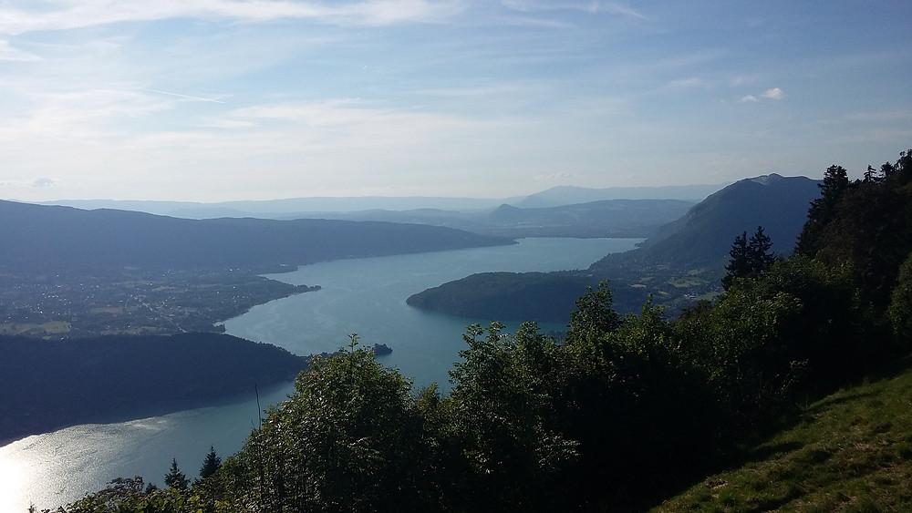 photo of beautiful lake Annecy