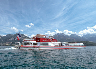 Boat cruise on Lake Annecy