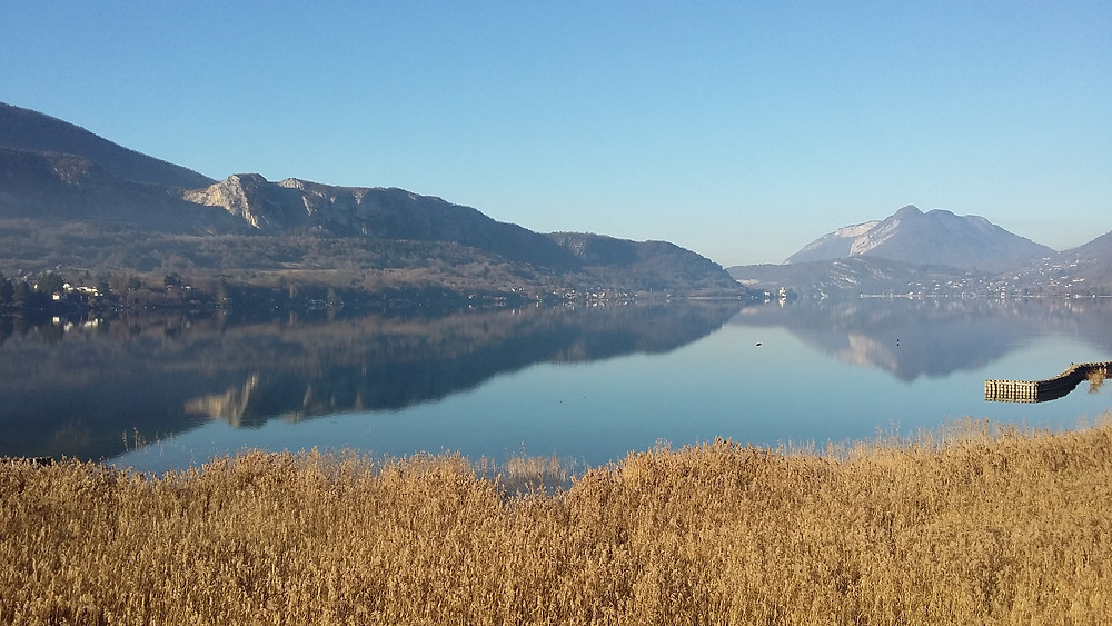 lake annecy from natural reserve