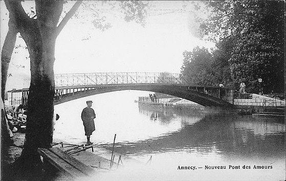 Postcard of second lover's bridge