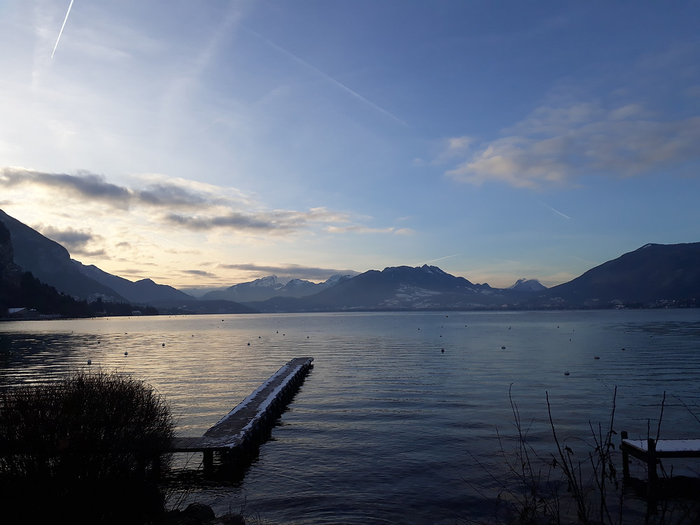 lake annecy winter photo