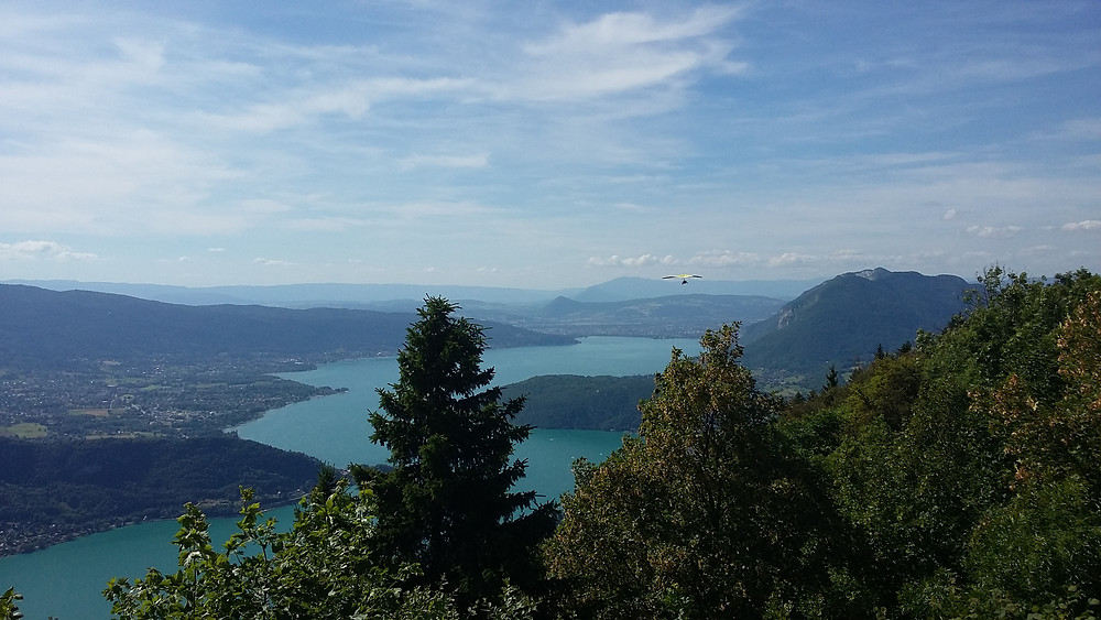 photo of lake annecy from Forclaz