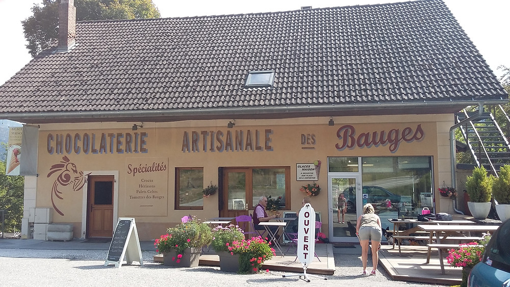 chocolate shop in Bauges