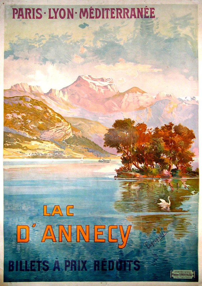 old poster of Annecy