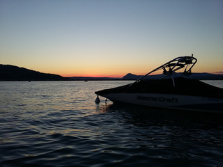 Sunset in Veyrier