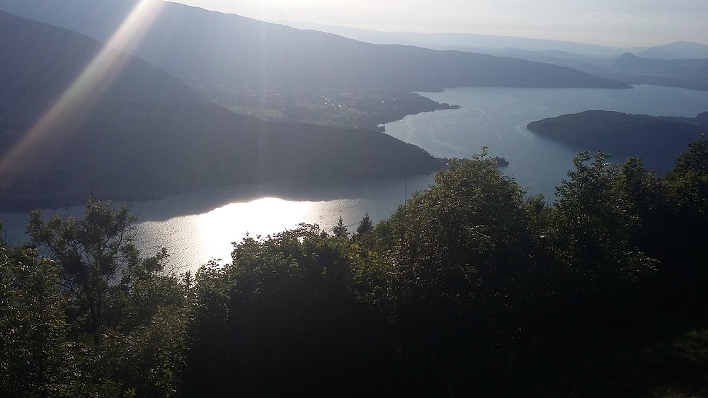 photo of sunset Lake Annecy