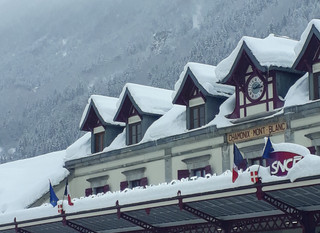 Chamonix in the snow