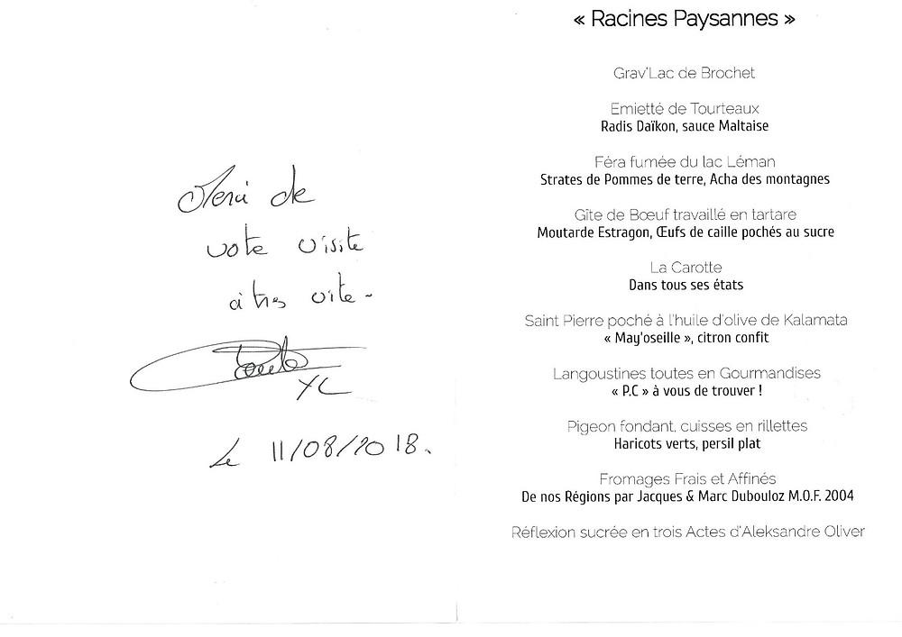 yoann conte menu