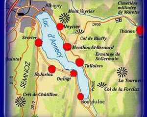 Tour of Annecy Lake by car