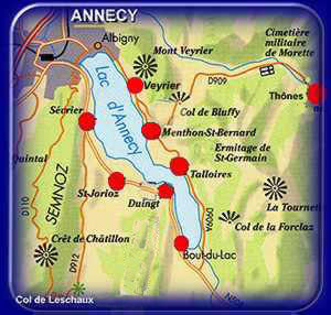 Private tour of lake Annecy by taxi