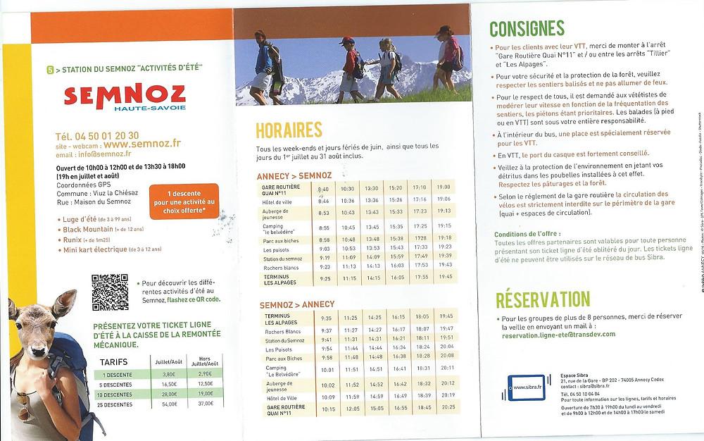 Semnoz bus schedule