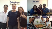 Yummy treats from our IELTS passers who are now ready to go to New Zealand, USA and UK