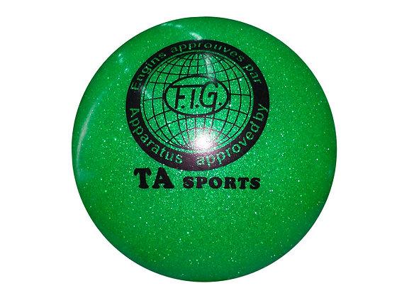 Мяч гимнастический D19 зеленый с блестками