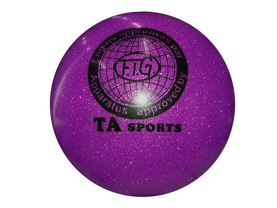 Мяч гимнастический D19 фиолетовый с блестками