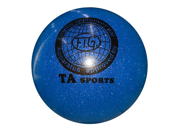 Мяч гимнастический D19 синий с блестками