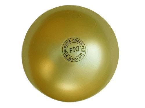 Мяч для художественной гимнастики профи золотистый