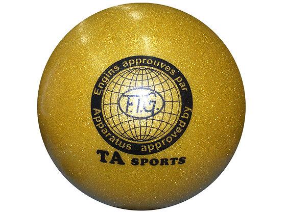 Мяч гимнастический D19 золотистый