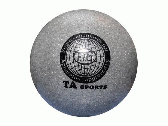 Мяч гимнастический D19 серебристый
