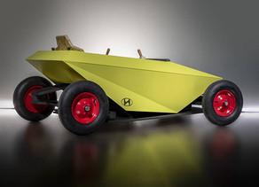מכונית ה- soapbox של יונדאי מוטורס.