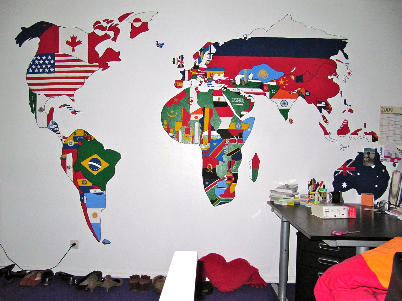 Room wall painting
