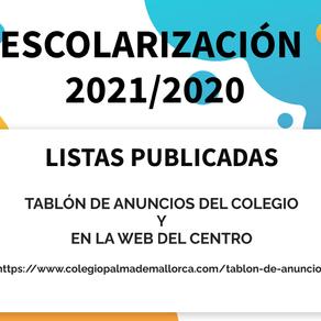ESCOLARIZACIÓN. 2021/2022
