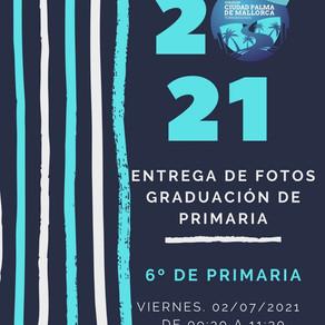 ENTREGA DE FOTOS. GRADUACIÓN DE PRIMARIA