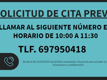 SOLICITUD DE CITA PREVIA