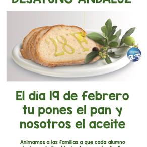 DÍA DE ANDALUCÍA / DESAYUNO ANDALUZ