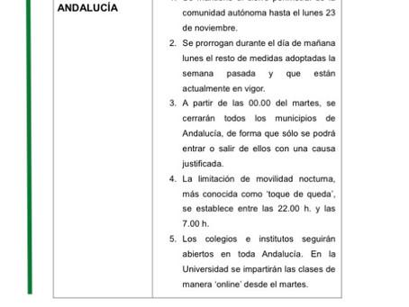 NUEVAS MEDIDAS COMO CONSECUENCIA DE LA PANDEMIA