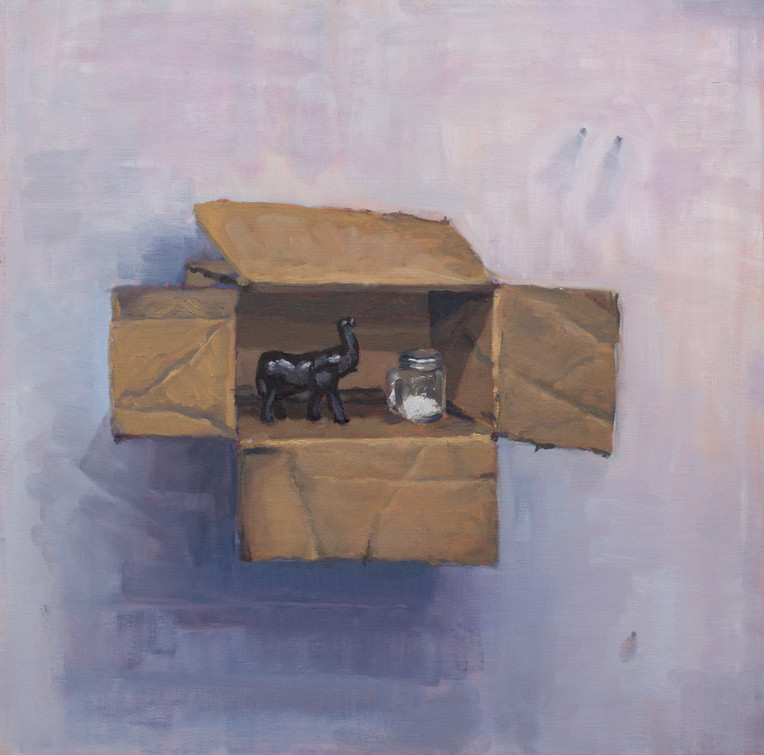 Box on Wall with Figurine and Salt Shaker #2