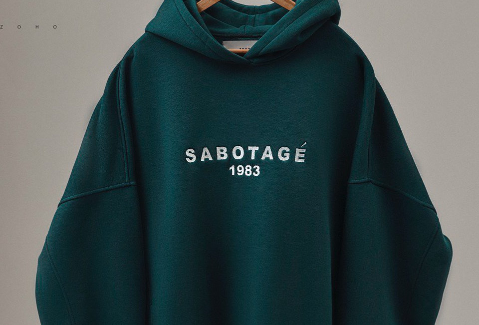 "ОВЕРСАЙЗ ХУДИ "" SABOTAGE 1983 """