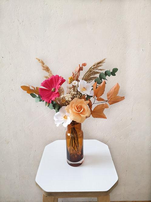 ETE INDIEN - fleurs de papier et fleurs séchées