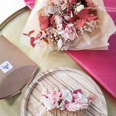 Accessoires rose et blanc