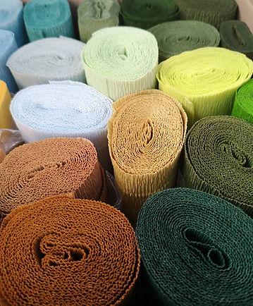 Rouleaux de papier crépon de toutes les couleurs