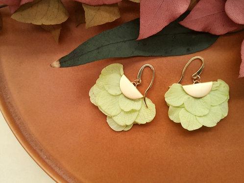 BO - boucles d'oreilles en pétales d'hortensia