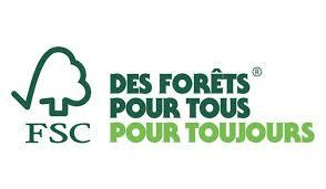 Logo du label FSC, des forêts pour tous pour toujours