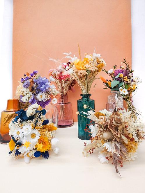PICCOLO - Petit bouquet de fleurs séchées (Vase en option)