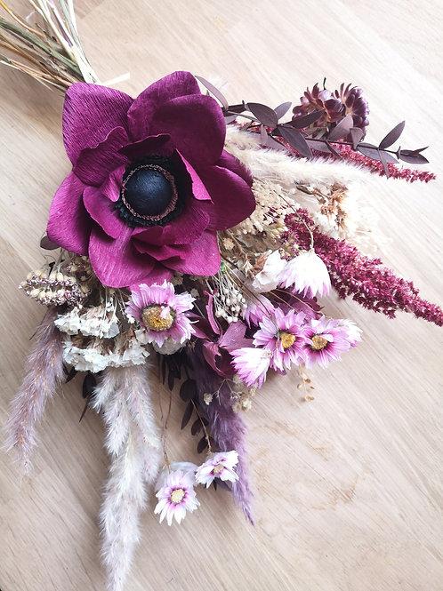 ANEMONE - bouquet bordeaux/rose