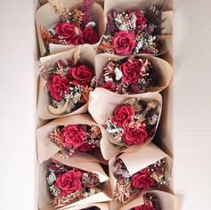 Bouquets de table automnales