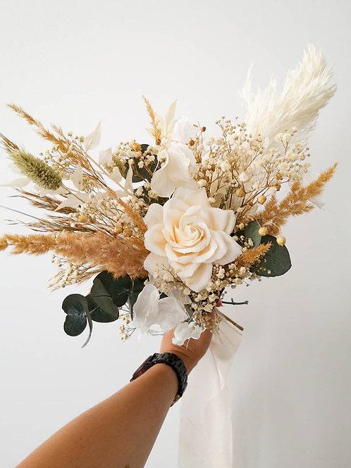SNOW - bouquet de fleurs durables blanc