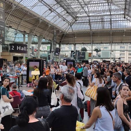Nicolas Gabet fait le plein en #GareLive à Paris Gare de Lyon