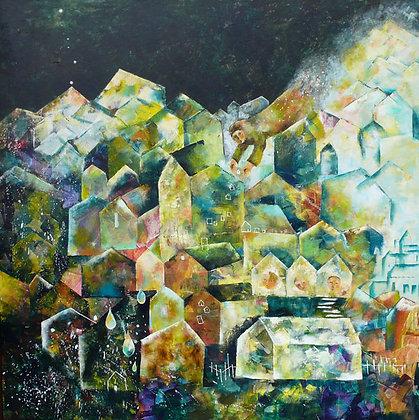 原画「聖人の住む町家」