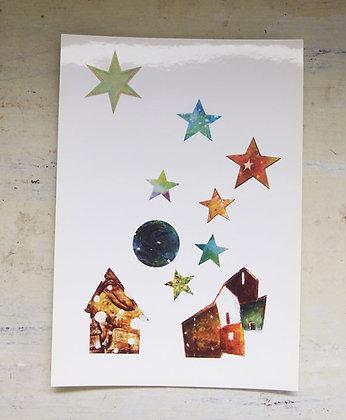 シール「星が眠る家」